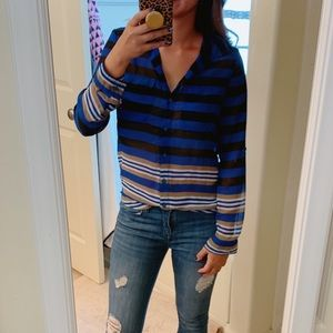 Chiffon striped button down from Old Navy XS